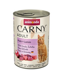 ANIMONDA Carny Adult katėms su kalakutu ir ėriena 400g