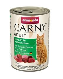Animonda Carny Adult su kalakutiena ir triušiena 0.4 kg