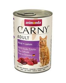 Animonda Carny Adult su jautiena ir ėriena 0.4 kg