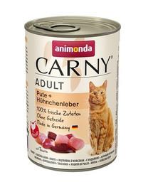 ANIMONDA Carny Adult katėms su kalakutiena ir vištienos kepenėlėmis 400g