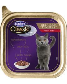 BUTCHER'S Classic Delicious Dinner Cat su jautienos gabalėliais  padaže100 g