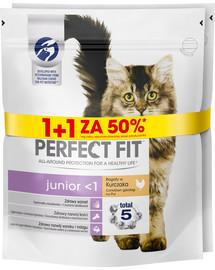 PERFECT FIT (Junior) 750g x 3 szt. praturtintas vištiena - sausas kačių maistas 1 + 50%