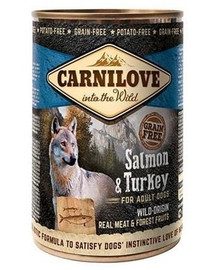 CARNILOVE Wild Meat Salmon & Turkey lašiša ir kalakutiena 400 g