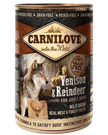 CARNILOVE Wild Meat Vension & Reindeer elniena ir šiaurės elniai 400 g
