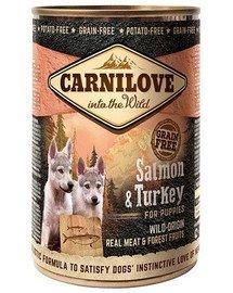 CARNILOVE Wild Meat Salmon & Turkey lašiša ir kalakutiena šuniukams 400 g