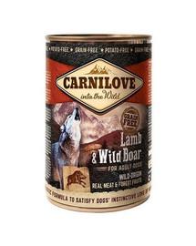 CARNILOVE Wild Meat Lamb & Wild Boar ėriena ir šerniena 400 g