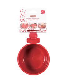 Zolux plastikinis dubenėlis pakabinamas 9,5 cm raudonas