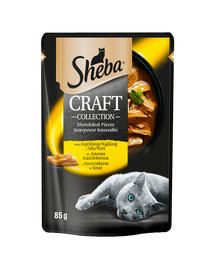 SHEBA Sheba Craft Collection Paukštienos patiekalų pasirinkimas Kačių maistas padaže 12x85g