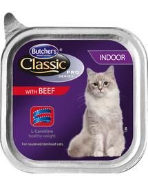 BUTCHER'S Classic Indoor Cat su jautienos paštetu 100 g