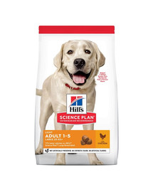 HILL'S Science Plan Adult Light Large breed sausas maistas su vištiena 14 kg