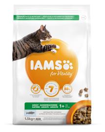 IAMS for Vitality suaugusioms katėms su vandenyno žuvimis 1,5 kg