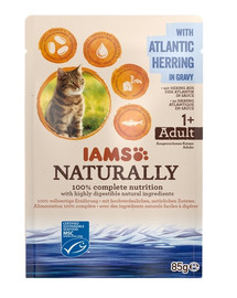 IAMS Naturally Adult Cat with North Atlantic Herring in Gravy 85 g