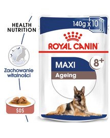 ROYAL CANIN Maxi Ageing 8+ konservai 140 g x 10 vnt