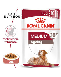 ROYAL CANIN Medium Ageing 10+ 10x140 g