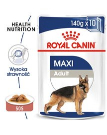 ROYAL CANIN Maxi Adult konservai 140 g x 10 vnt.