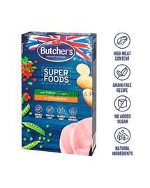 BUTCHER'S Superfoods Treats skanėsta su su kalakutiena ir spanguolėmisi  320 g