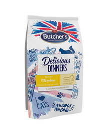 BUTCHER'S Delicious Dinners Cat dry Chicken 2 kg