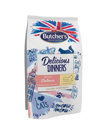 BUTCHER'S Delicious Dinners Cat dry Salmon/fish 2 kg