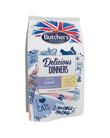 BUTCHER'S Delicious Dinners Cat dry Lamb 2kg