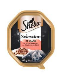 SHEBA Selection 85g su jautiena - katės šlapio maistas padaže 85g
