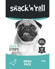 SNACK & ROLL Duck Strips  Anties juostelės 200 g