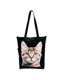 FERA Klasikinis pirkinių krepšys  Pilka katė