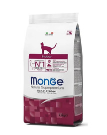 MONGE Cat Indoor maistas naminėms katėms 400g