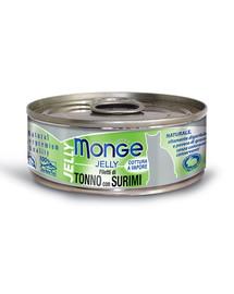 MONGE Jelly kačių maistas Tunas su krabų lazdėlėms 80 g