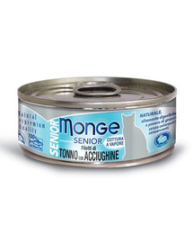 MONGE Senior Kačių maistas Tunas su ančiuviais 80g