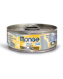MONGE Jelly kačių maistas su geltonpelekiu tunu 80g