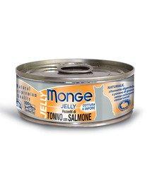 MONGE Jelly kačių maistas Tunas su lašiša 80 g