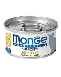 MONGE Monoprotein Cat Kačių maistas su vištiena 80g