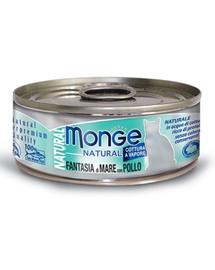 MONGE Natural Cat Kačių maistas Jūros gėrybės ir vištiena 80g