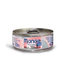 MONGE Kačių maistas Vištiena su kumpiu 80 g