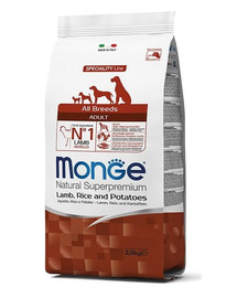 MONGE Šunų maistas avėna su ryžiais ir bulvėmis 2,5 kg