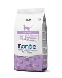 MONGE Cat Sterilised maistas kastruotoms katėms vištiena 1,5 kg