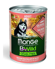MONGE BWild grain free Šunų maistas su lašiša 400g