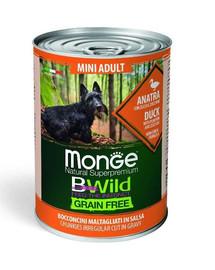 MONGE BWild GF Mini Maistas mažų veislių šunims - antiėna 400g