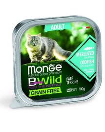 MONGE Bwild Cat Adult  Pasztet dla kota z dorszem 100 g