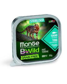 MONGE BWild GF Sterilised maistas sterilizuotoms katėms tunas 100g