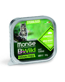 MONGE BWild Sterilised sterilizuotai katei su šernu 100g