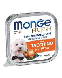MONGE Fresh Šunų maistas paštetas su kalakutiena100 g