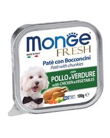MONGE Fresh Dog Vištienos ir daržovių paštetas 100 g