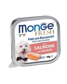 MONGE Fresh Šunų maistas Lašišos paštetas 100 g