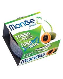 MONGE Fruit Cat Kačių maistas Tunas su papaja 80 g