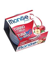 MONGE Fruit Cat Kačių maistas Tunas su obuoliais 80 g