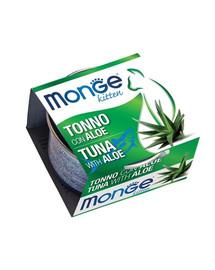 MONGE Fruit Kitten kačių maistas Tunas su alaviju 80g