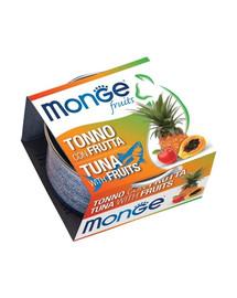 MONGE Fruit Kačių maistas Tunas su vaisiais 80 g