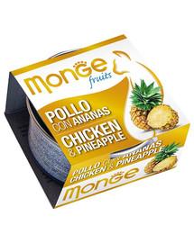 MONGE Fruit Kačių maistas Vištiena su ananasais 80 g