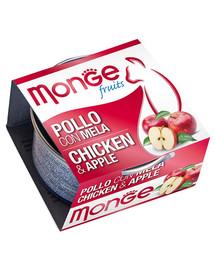 MONGE Fruit kačių maistas Vištiena su obuoliais 80 g